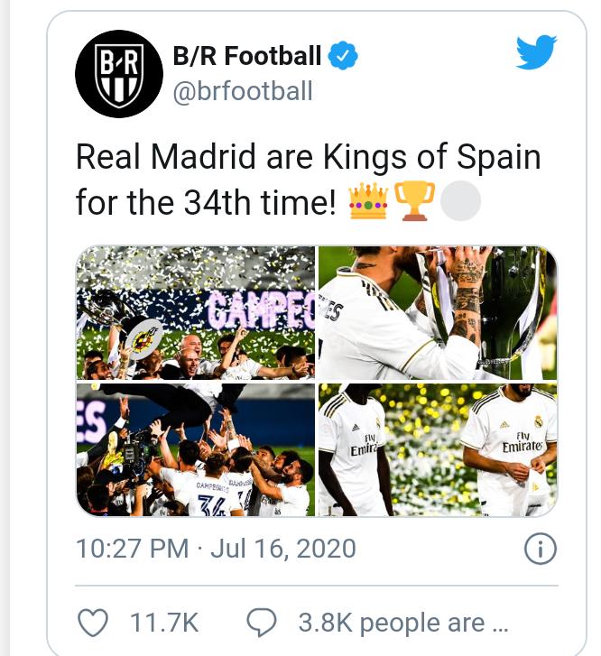 Real Madrid win its 34th La Liga title (photos)