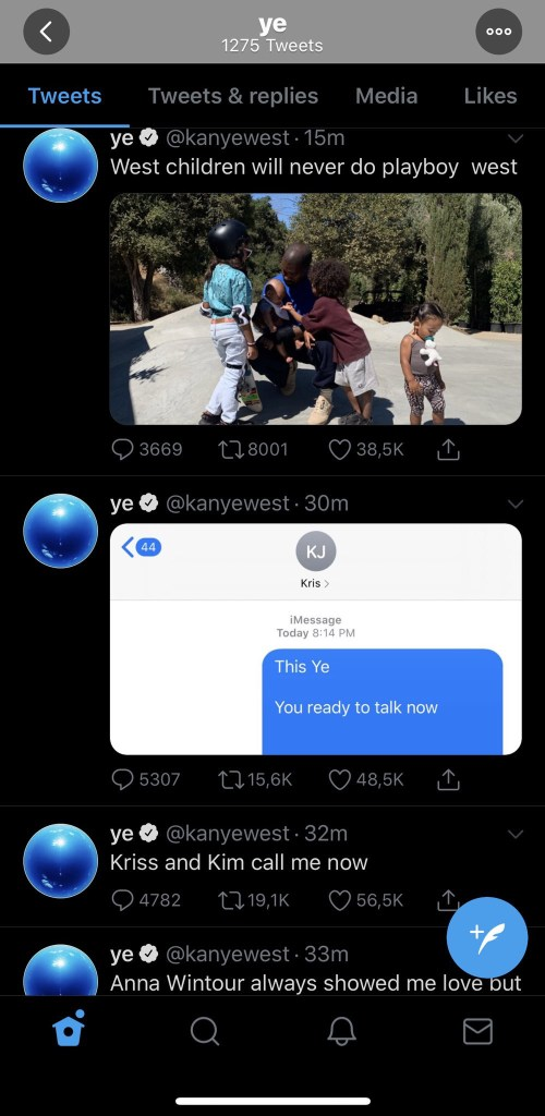 5f16877619a48 - Kanye West Goes Off On Twitter Rant, Calls Out Spouse, Kim Kardashian And Kris Jenner