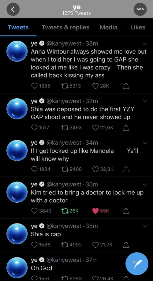 5f1689034916a - Kanye West Goes Off On Twitter Rant, Calls Out Spouse, Kim Kardashian And Kris Jenner