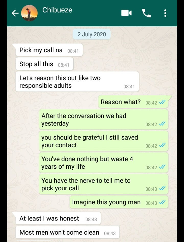 Being faithful in this Lagos is hard'' Man tells his girlfriend after she caught him cheating 1