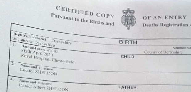 Couple win battle to name their son