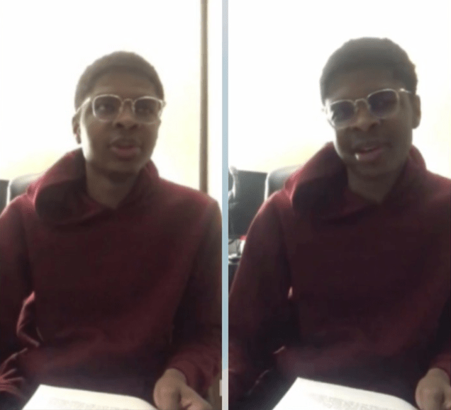 Video of Izuchukwu Madubueze reading his suicide note before shooting himself dead after being accused of harassing a woman