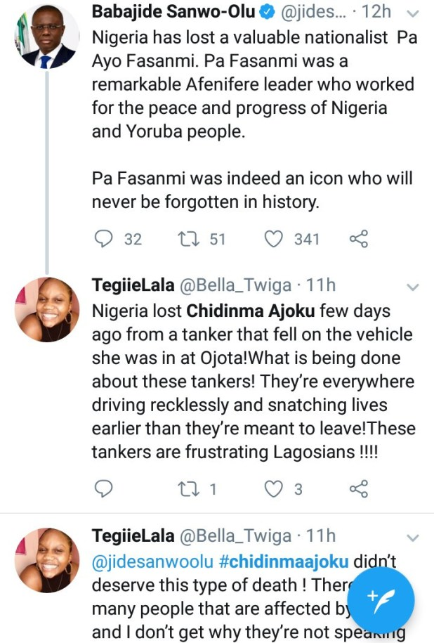 Identity of one of the victims who died in Lagos when a 20-feet container fell on a bus is revealed as her mother narrates ordeal (video)