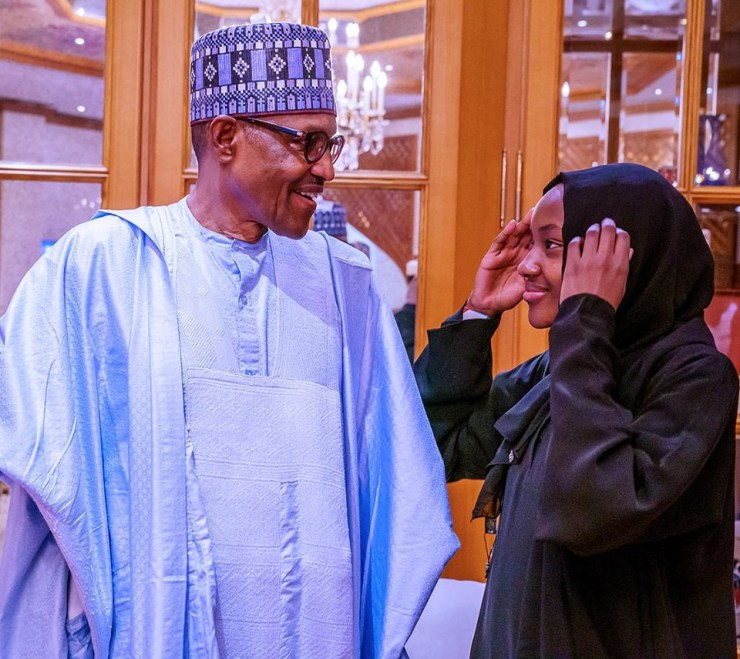 President Buhari observes Eid-Kabir prayers with his family and aides in Abuja (photos)