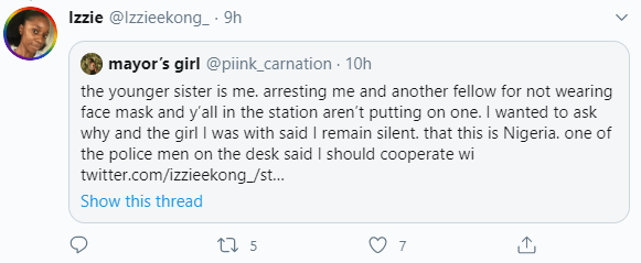 Girl accuses police of asking her and another girl to bribe them in order to avoid being raped for not wearing face mask
