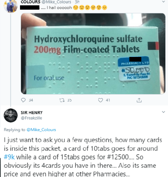 """https://bluebloodz.com/index.php/2020/08/02/covid19:-nigerians-react-as-pharmacy-sells-""""chloroquine-""""-for-n50,000/(opens in a new tab)"""