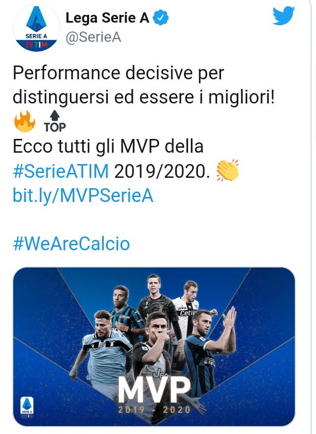 Paulo Dybala beats Juventus team-mate, Cristiano Ronaldo to Serie A Player of the Year