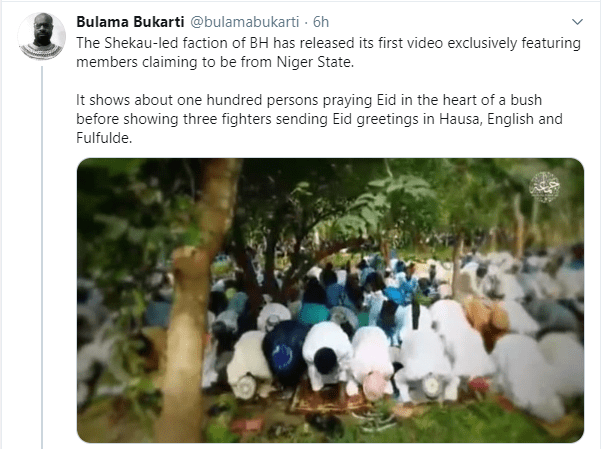 Boko Haram releases video of ?members observing Eid prayer in Niger state?