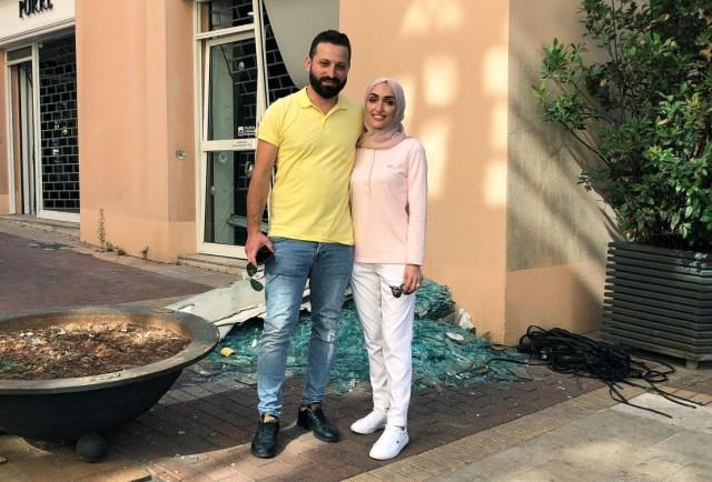 Une mariée libanaise révèle son calvaire? Après avoir été secouée par une explosion massive alors qu'elle posait pour des photos le jour de son mariage