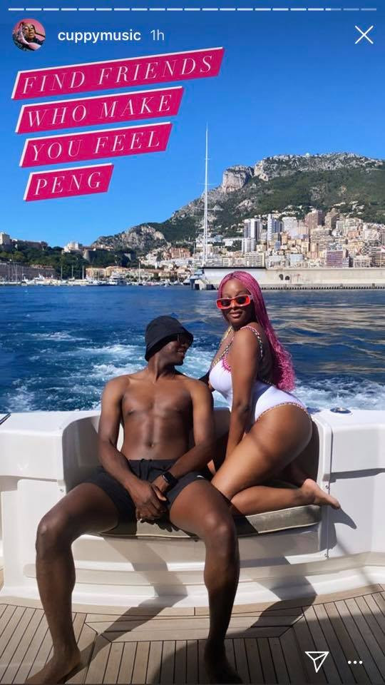 DJ Cuppy shares beautiful swimsuit photos from her boat cruise in Monaco