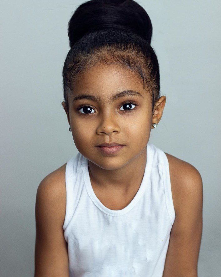 Actress Ufuoma McDermott shares stunning photos of her daughter, Kes, as she turns five today