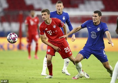Bayern Munich 4-1 Chelsea (7-1 agg): German champions run riot in one sided affair (UEFA Champions League)