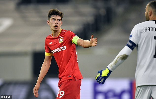 Chelsea agrees with Bayer Leverkusen to sign midfielder Kai Havertz in a record signing deal worth ?90million.