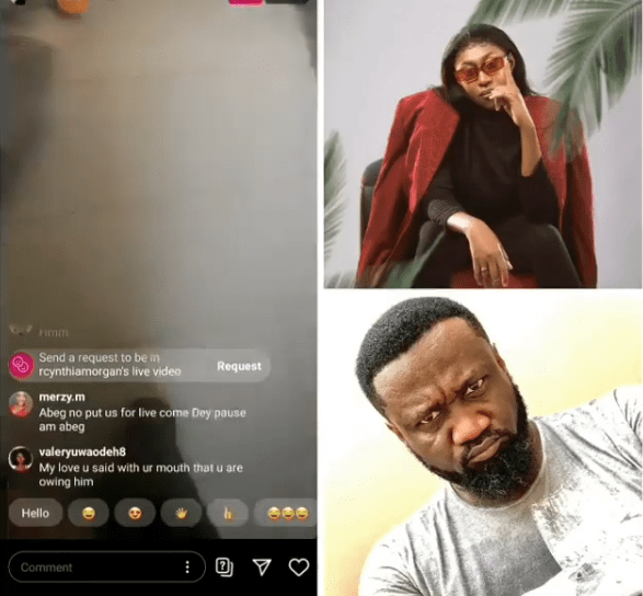 Cynthia Morgan goes on IG live to demand for her