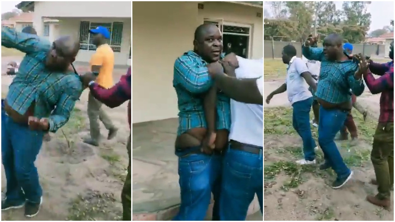 Man beaten after being caught trying to sleep with boss' wife (video)