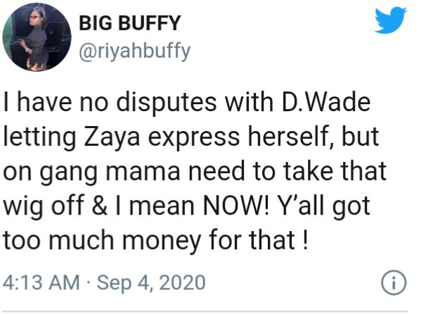 Twitter users call out Dwyane Wade and Gabrielle union after Zaya Wade was pictured wearing a wig