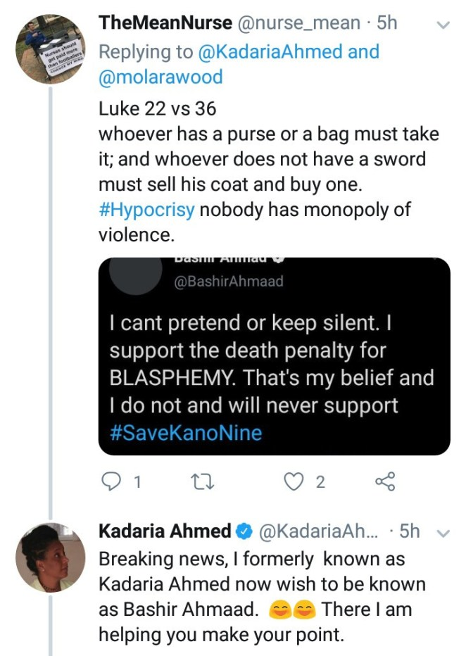 """""""People are getting killed for blasphemy in your religion but pastors are your problem"""" Kadaria Ahmed is blasted for criticizing Pastor Ibiyeomie but staying silent about death sentence on Kano singer"""