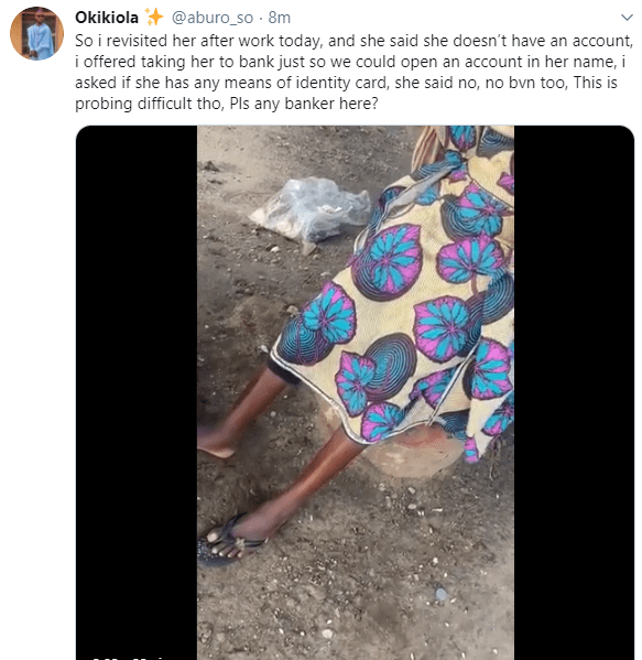 Man narrates his encounter with a former fashion designer who now sells oranges for a living