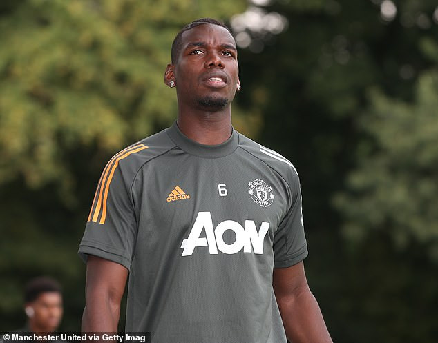 Paul Pogba recovers from Coronavirus as he returns to training with Manchester United ahead of the new season (photos)