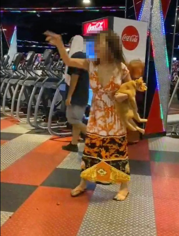 Woman strips completely at gym after her cat was denied entry (video)