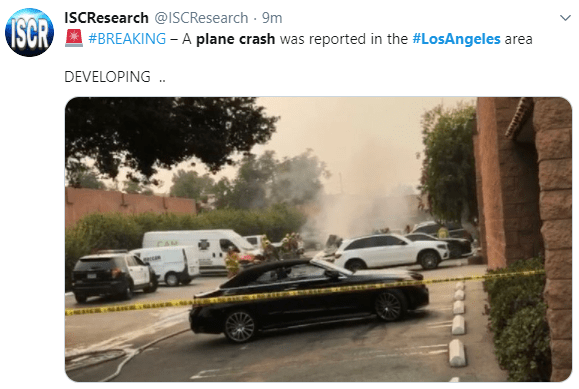 At least 2 persons dead as plane crashes in Los Angeles