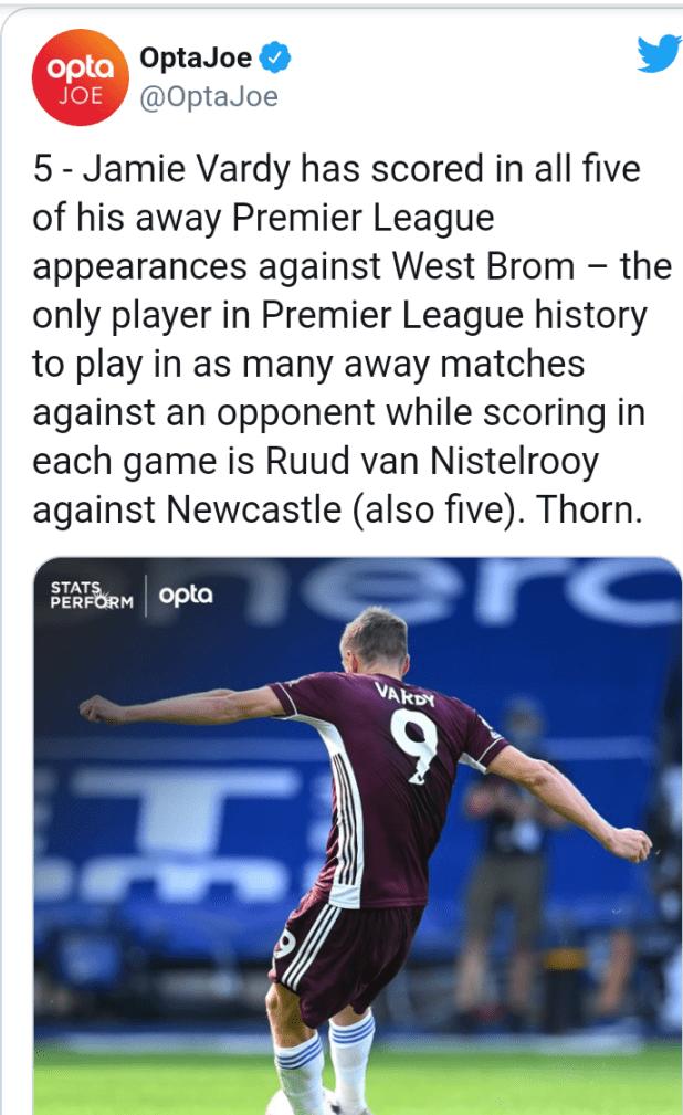English Premier League: Golden boot winner Jamie Vardy equals Ruud van Nistelrooy scoring record