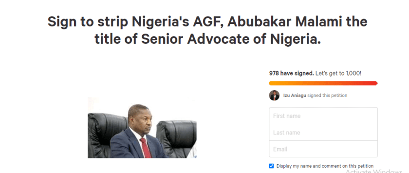 Lawyers sign petition to strip AGF Abubakar Malami of SAN rank over ?controversial amendment?