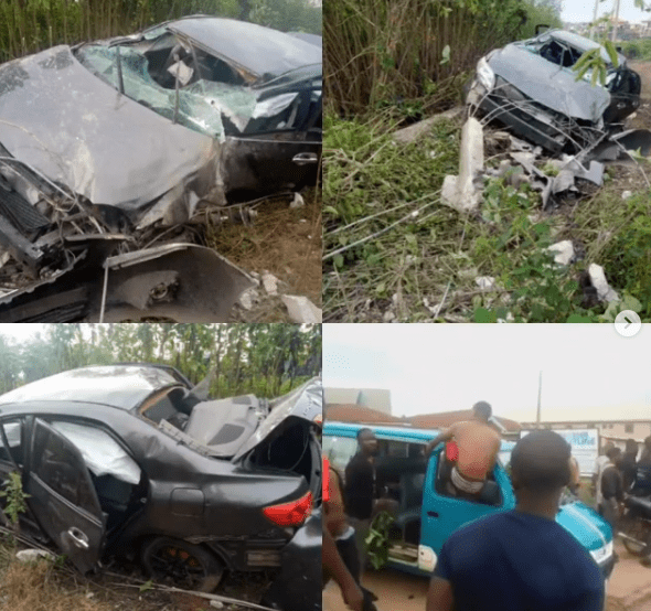 Protest in Osogbo as SARS officers allegedly chase three suspected internet fraudsters to their death (photos)