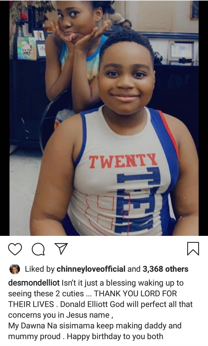 Desmond Elliot shares new photos of his twins to celebrate them as they turn 10