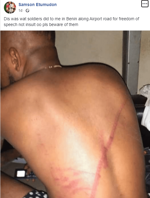 Man claims he was flogged by soldiers for expressing his right to