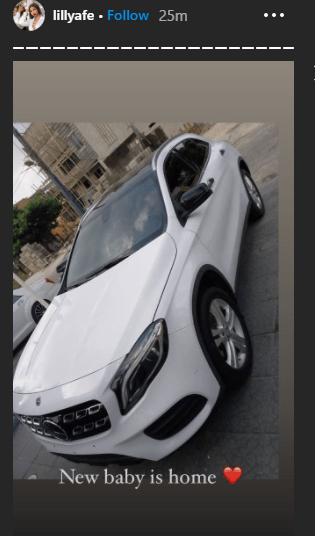 Lilian Afegbai shows off her new car