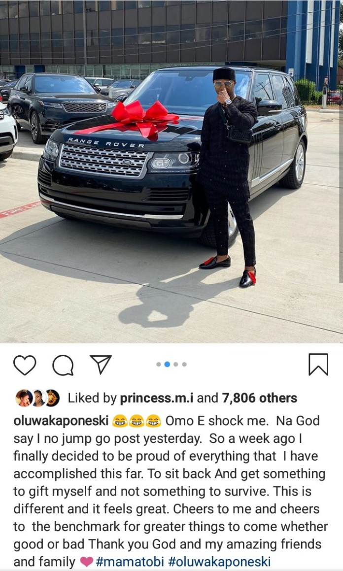Comedian Mama Tobi buys a Range Rover