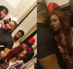 #BBNaija: Erica and Kiddwaya get so cozy at a party last night (photos/videos)