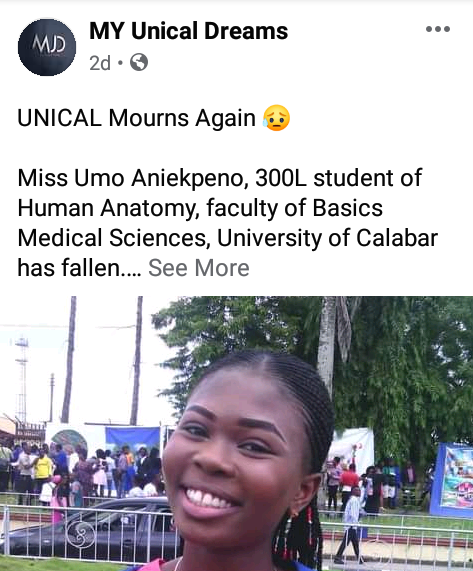 300 Level UNICAL student killed as generator explodes in Calabar