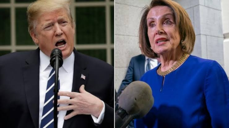 Trump hits out at ?CRAZY? Nancy Pelosi for planning to impeach him for the second time