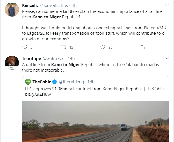 Nigerians react as FG approves $1.96 billion for construction of rail from Kano to Niger Republic