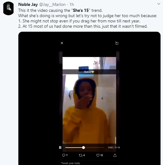 15-year-old girl smoking, sparks outrage on Twitter (video)