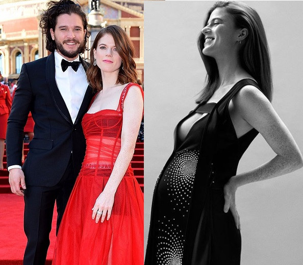 Game Of Thrones stars, Rose Leslie and Kit Harington
