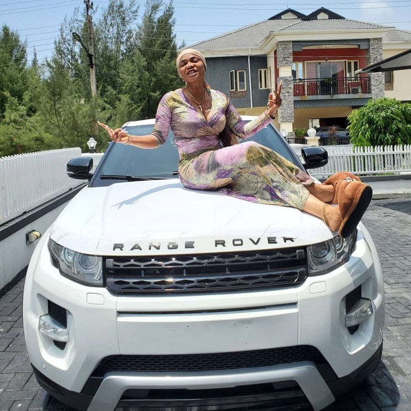 Actress, Iyabo Ojo, receives Range Rover gift from her god daughter