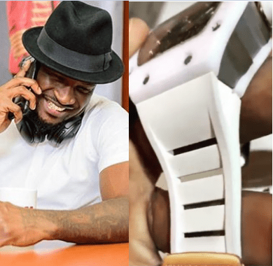 Peter Okoye reacts after he was accused of wearing a fake Richard Mille watch