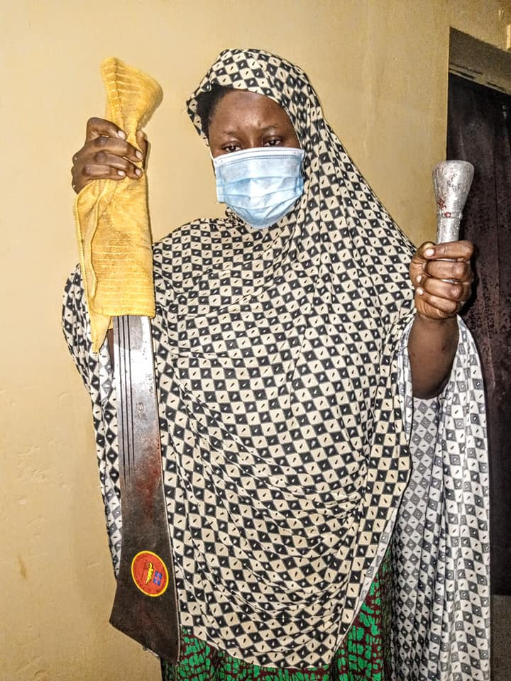 Update: Kano Police parade 26-year-old mother who hacked her two children to death with cutlass because her husband married second wife