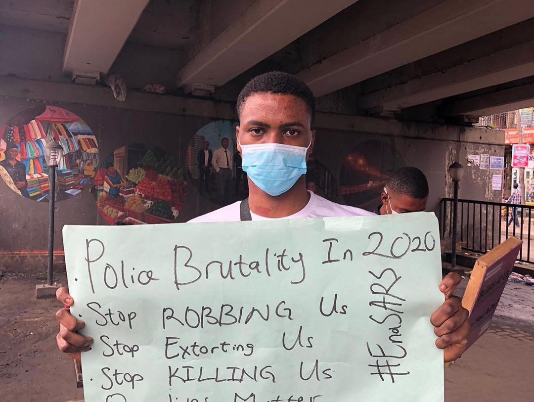 Youths stage #EndSARS protest in Lagos (photos)