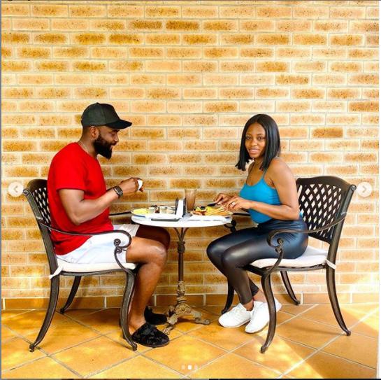 Lovely new photos of Gedoni and Khafi enjoying breakfast together