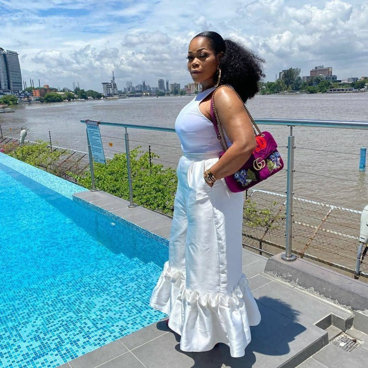 Lovely photos of actress Shaffy Bello and her kids