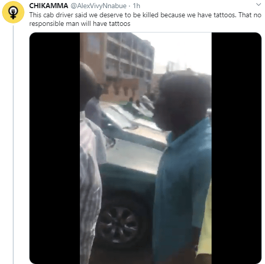 Clash of two generations as cab driver says young end SARS protesters are criminals who deserve to be killed for having tattoos (video)