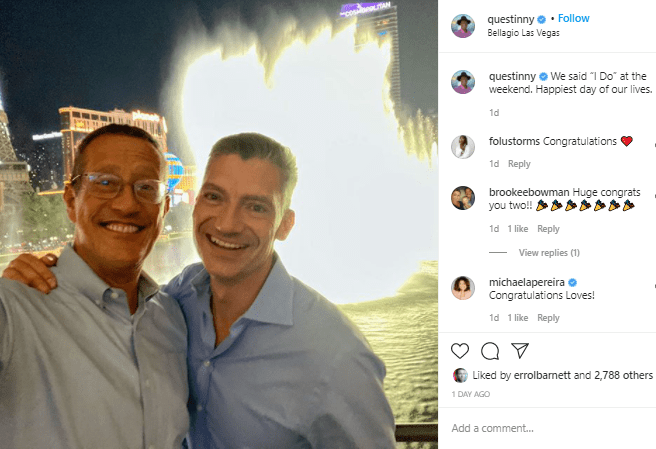 CNN journalist Richard Quest marries longtime male partner