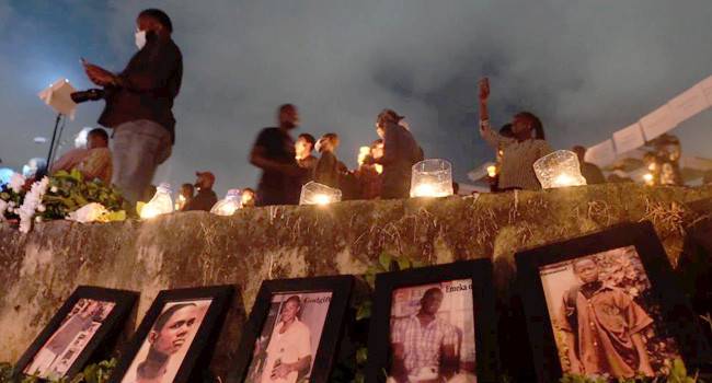 #EndSARS protesters in Abuja hold candlelight procession for victims of police brutality (photos/video)