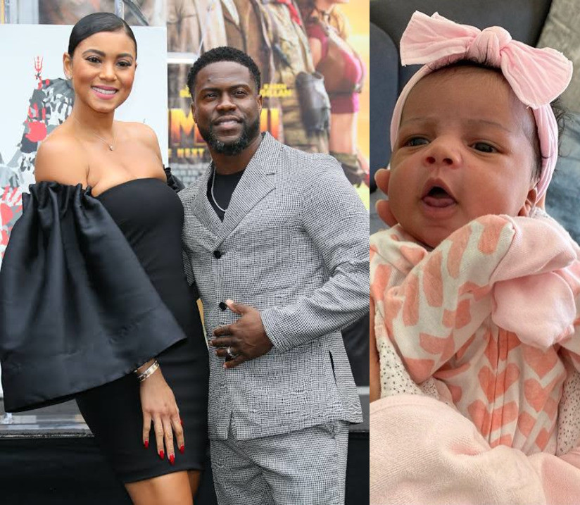 Kevin Hart shares adorable photo of his newborn daughter, Kaori Mai Hart