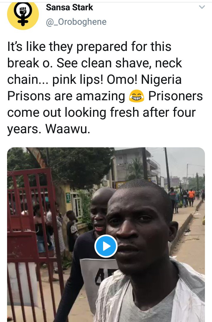 """This Edo state prison break is fishy"" Betty Irabor, Lauren Idahosa, Davido, and other Nigerians react to the jail break in Edo State"
