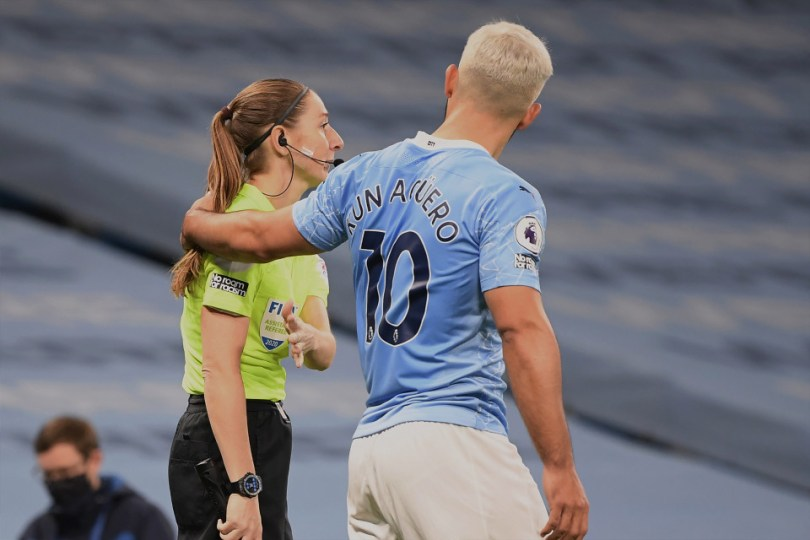 Sergio Aguero will not face any penalty after touching female referee during premier league match against Arsenal
